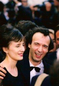 Roberto Benigni and co-star/wife Nicoletta Braschi.