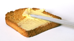 We are knives. Butter is media. Toast is Web. I am hungry. Image found here.