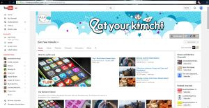 Screenshot of eatyourkimchi homepage on YouTube