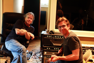 Dann Huff (right) in studio