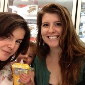 (L-R): Nicole Cliffe, Nicole Cliffe's child, Mallory Ortberg