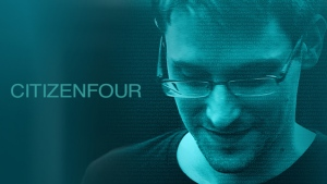 One of the film posters for Citizenfour.