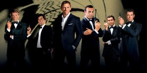 The six actors who have portrayed James Bond.