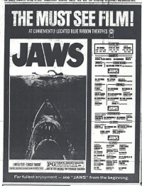 The first blockbuster, Jaws.
