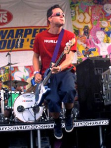 Mark Hoppus of Blink 182 at the 1998 Vans Warped Tour